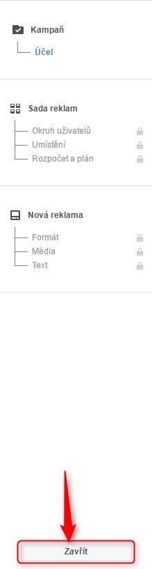 Průvodce reklamním účtem ve Facebook pixelu