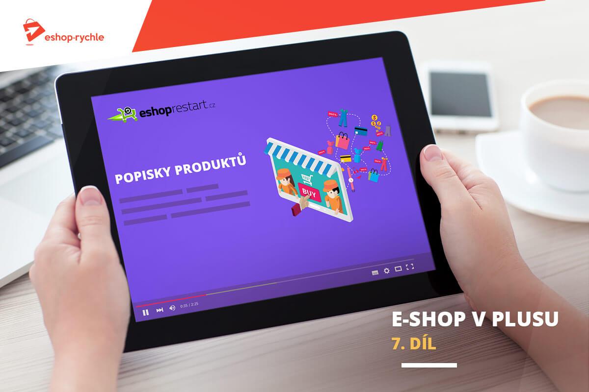 E-shop v plusu: 7. díl - První kroky při tvorbě popisků