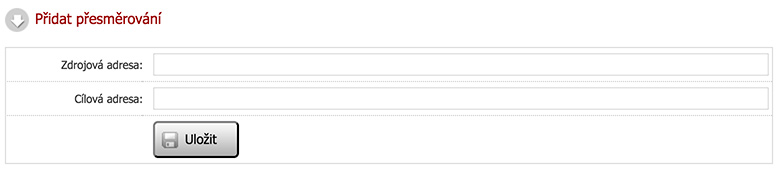 Přesměrování URL adres