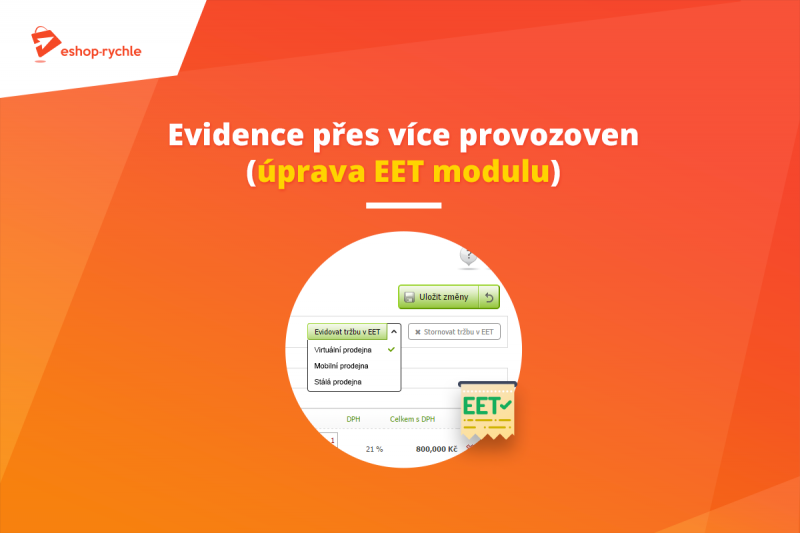 EET evidence přes více provozoven