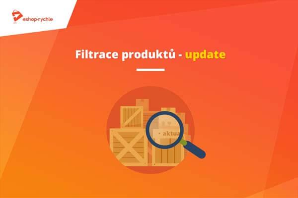 Filtrace produktů v administraci – update