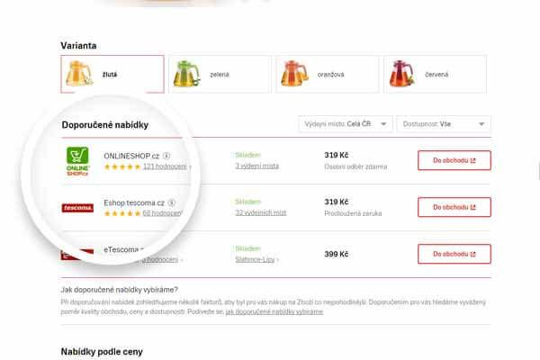 Nové zobrazení nabídek vdetailu produktu na Zboží.cz – Co to pro e-shopaře znamená?