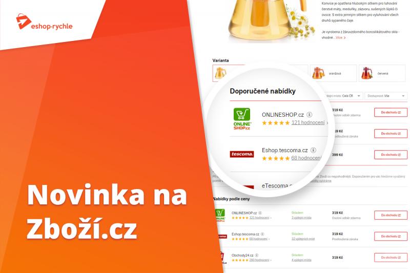 Náhled novinky na Zboží.cz - Vylepšené zobrazení nabídky produktu