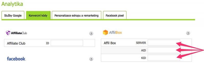 nasazení affiliate na e-shop