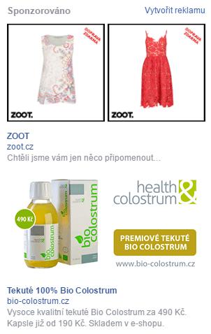 Ukázka dynamické produktové reklamy
