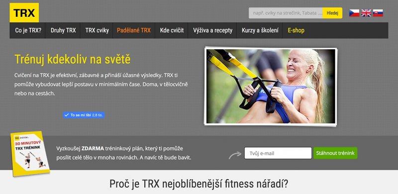 závěsný trénink s TRX popruhy