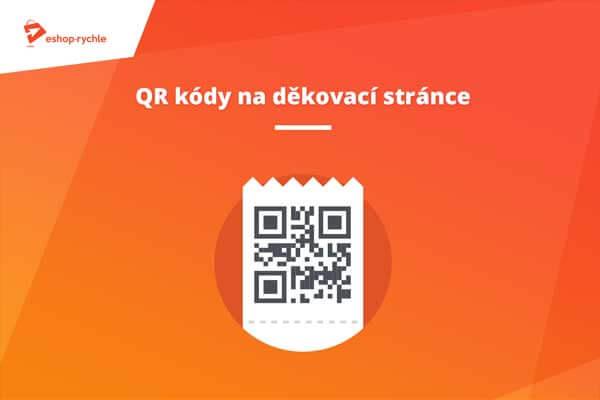 QR kódy na děkovací stránce
