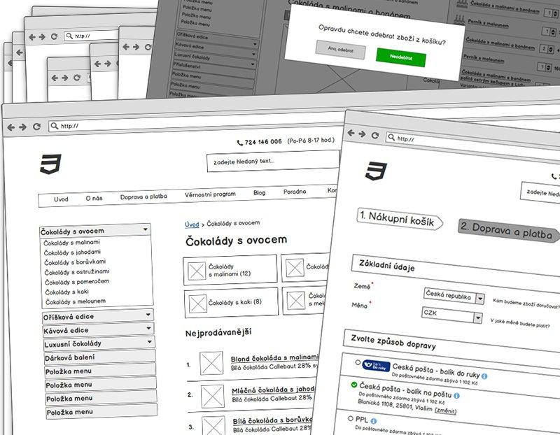 Lukáš Dubina - návrh e-shopu wireframes