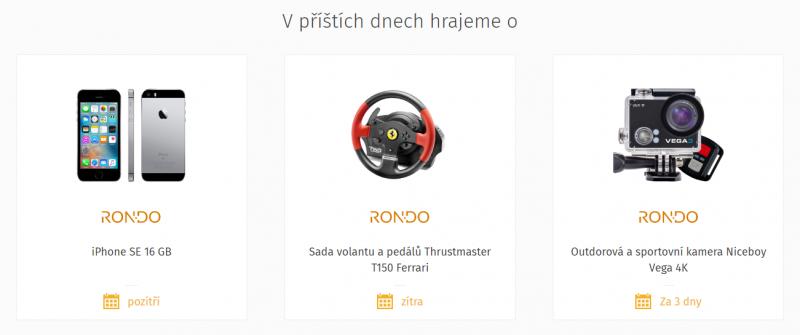 Soutěže o věcné ceny na Rondo.cz
