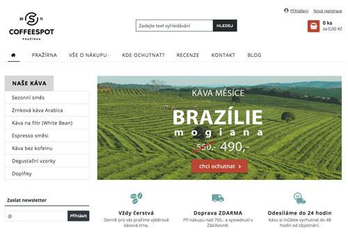 Lukáš Dubina - redesign e-shopu Cofeespot
