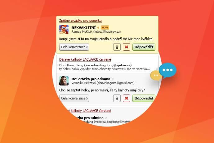 Kompletní přepracování diskuze e-shopu