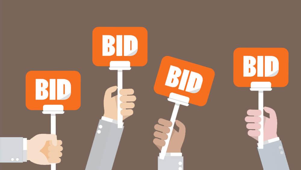 Aukce -bidding na zbožových srovnávačích