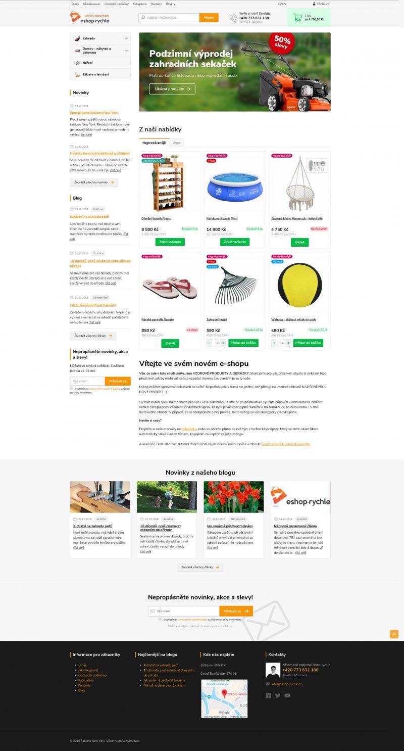 NOvá revoluční e-shopová šablona New York