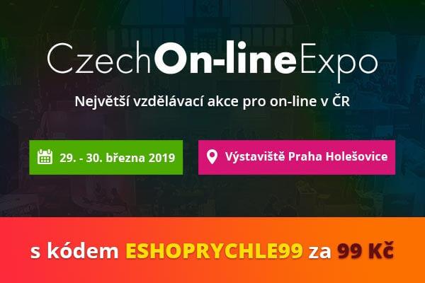Na Czech Online Expo s námi jen za 99 Kč