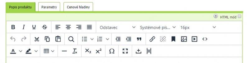 Aktualizace TinyMCE